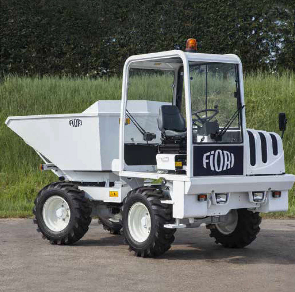 The Fiori D40 articulated compact dumper offered by Dominion Equipment Parts is the most compact vehicle in its class.