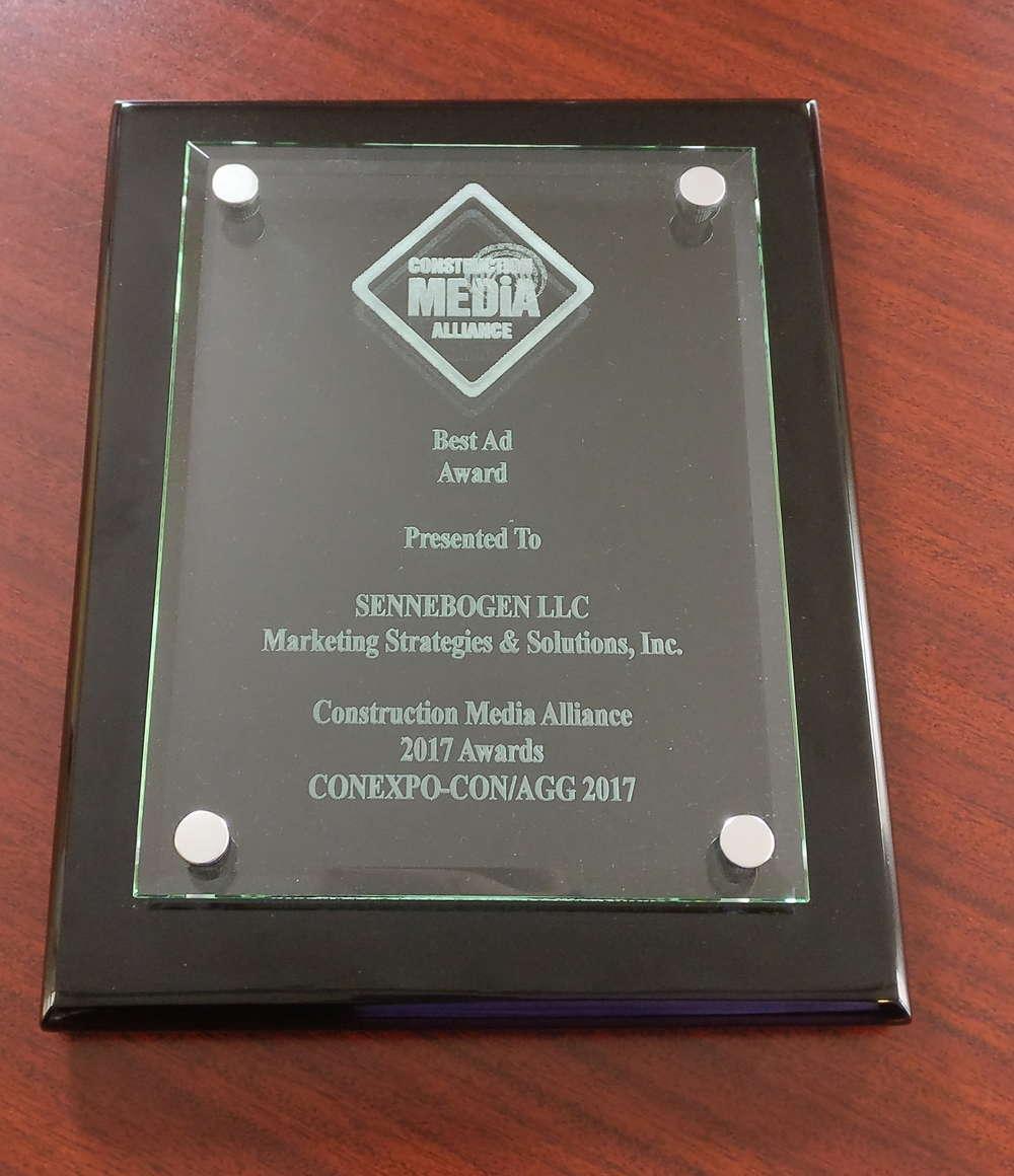 Construction Media Alliance (CMA) award.