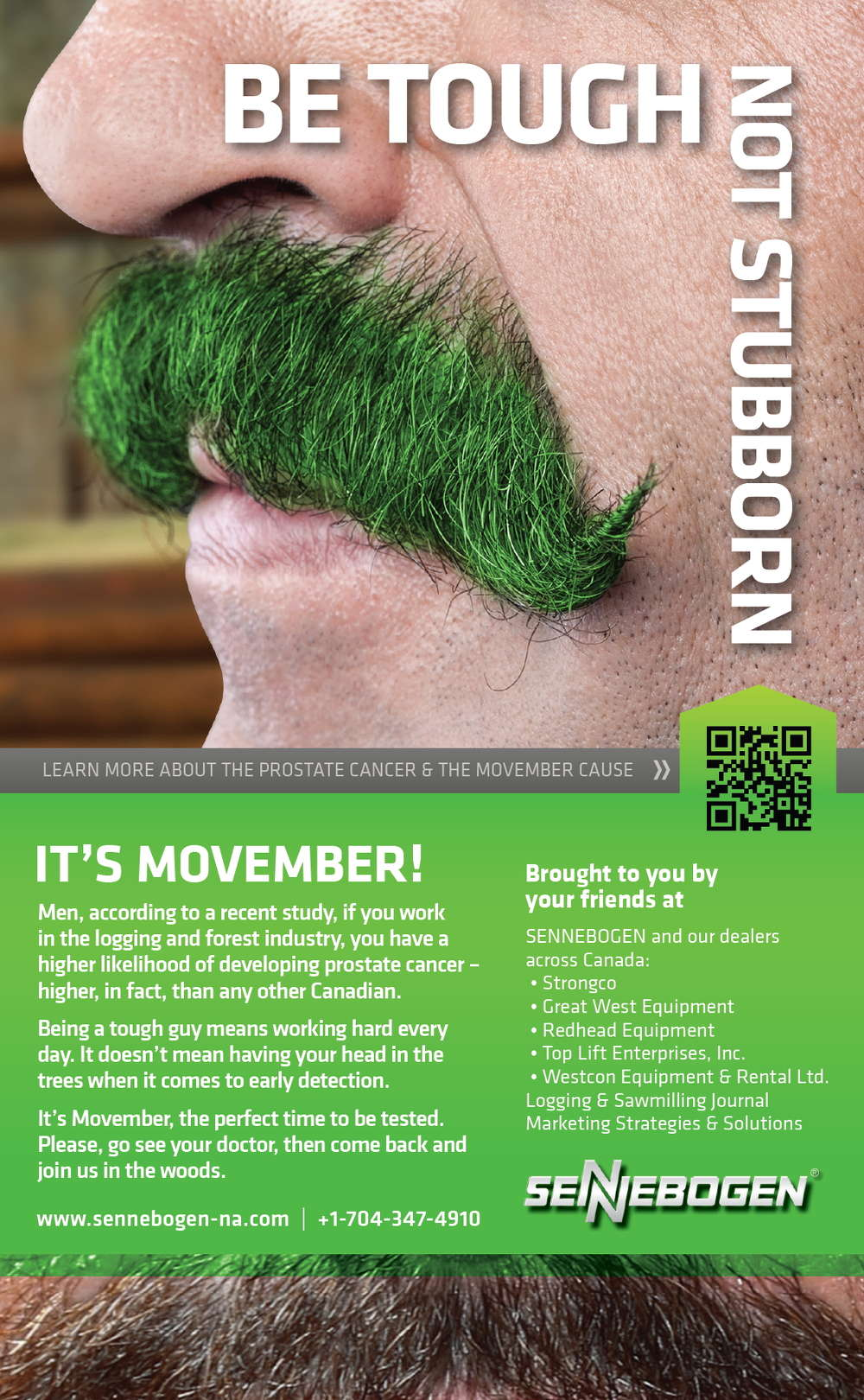 The intent of the award-winning ad developed in support of the National Movember Campaign.