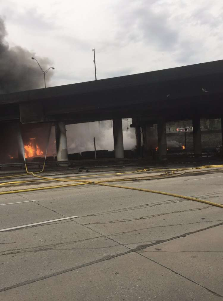 A photo of the fire was posted by Atlanta Fire Rescue on social media with the caption