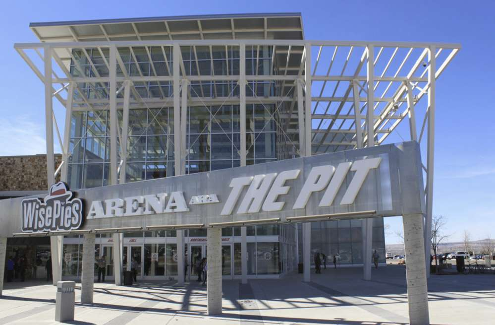 East side of the university's famed basketball arena which is referred to as