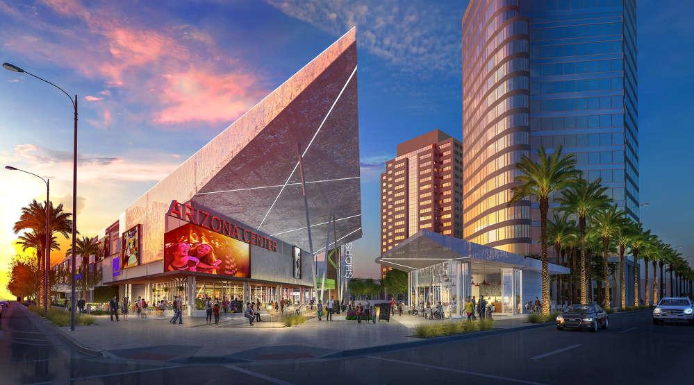 Arizona Center photo Arizona Center, Phoenix's original downtown entertainment destination, has begun construction on its $25 million makeover.