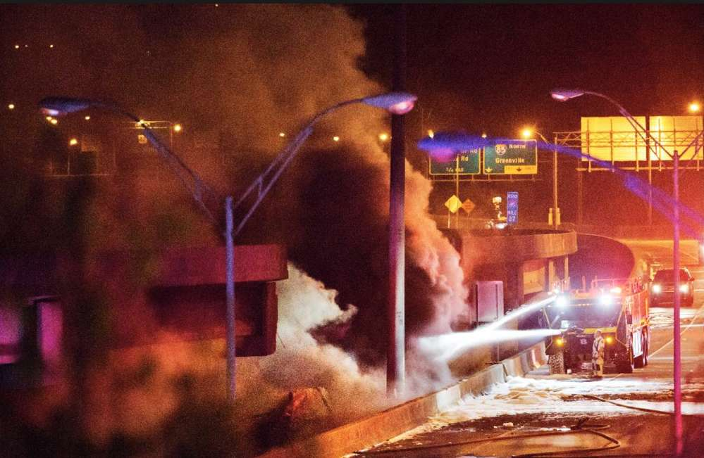McMurray assured people that the Department of Transportation was on the site of the bridge fire before it was out.