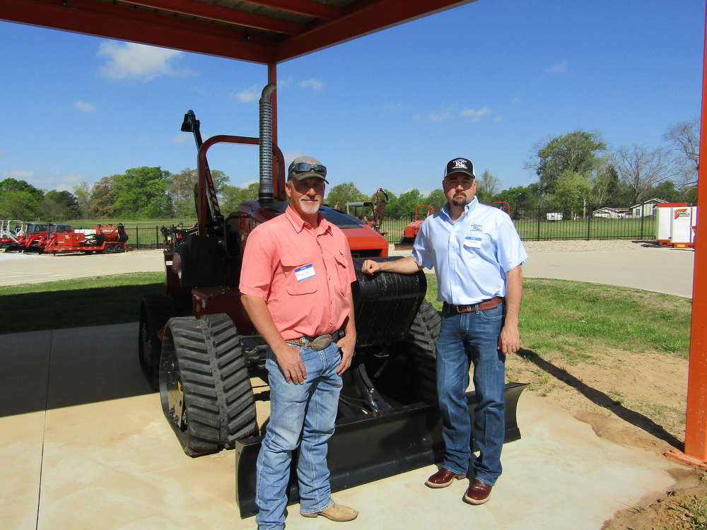 Among the many Ditch Witch customers on hand were Royce Bane (L) of BAM Diversified and J.B. Raymond of Raymond Construction.