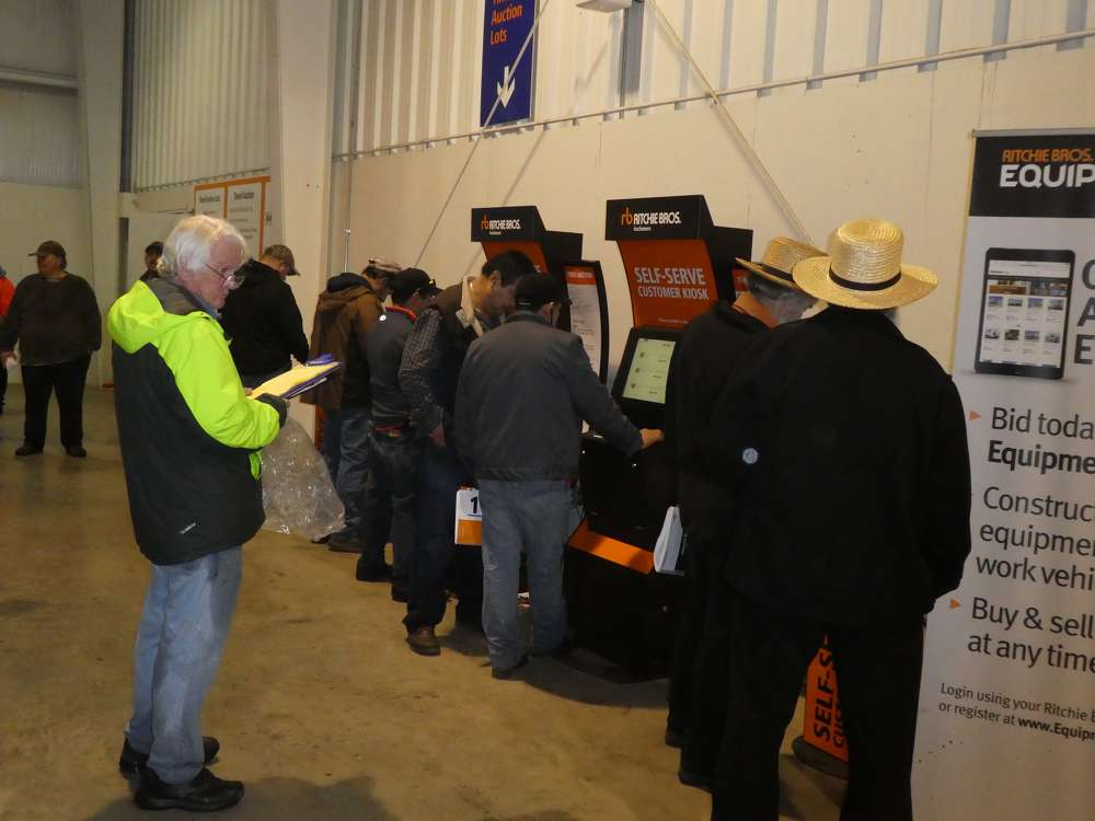 The self-serve kiosk bidding was brisk throughout the entire auction.