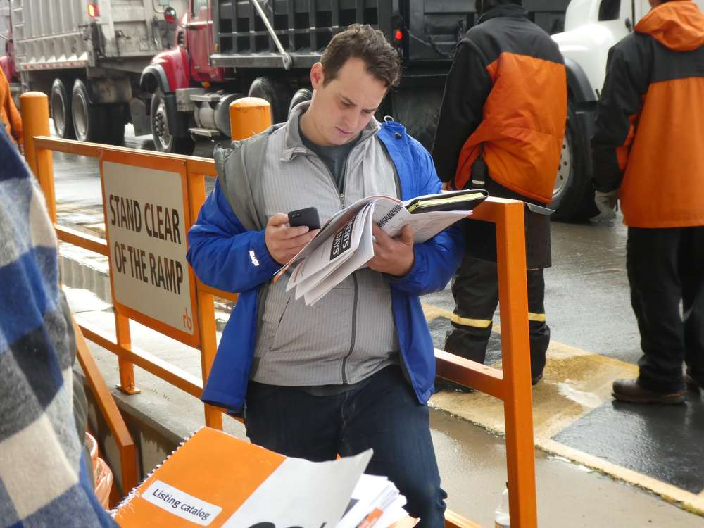 The recent Ritchie Bros. auction held at its North East, Md., facility drew hundreds of onsite bidders.