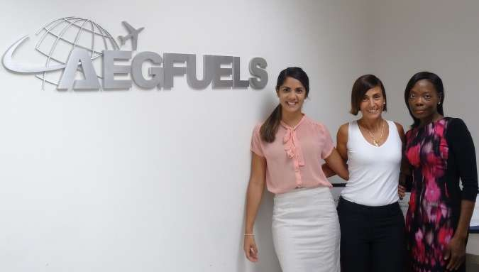 (L-R) are Claudia Arnold, AEG Fuels; Patricia Arcuri, 2016 WITI Intern; and Adriana Clark, Southeast SBTRC project director.