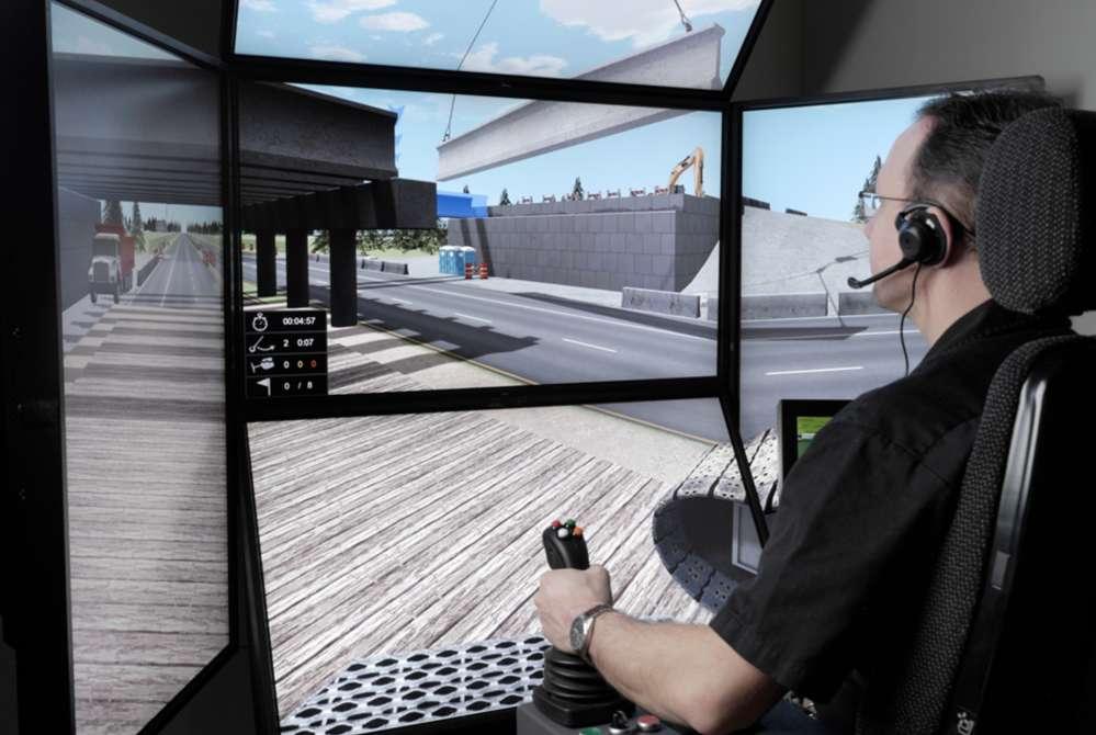CM Labs simulators help train equipment operators in realistic situations via the simulation environment.