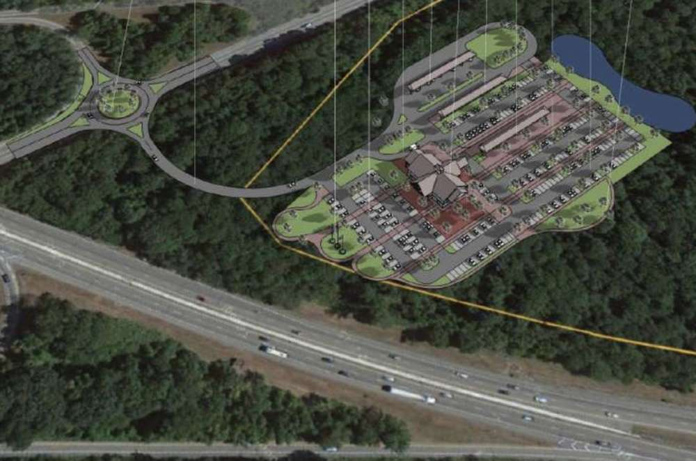 The proposed location is along I-95, west of Main Street (Route 3) in Hopkinton.