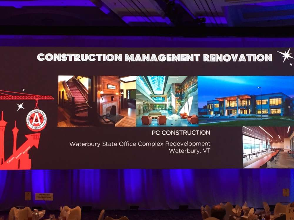 PC Construction has received one of the Associated General Contractors of America's highest honors — an Alliant Build America Award in the construction management renovation category — for its work to rebuild the Waterbury State Office Complex.