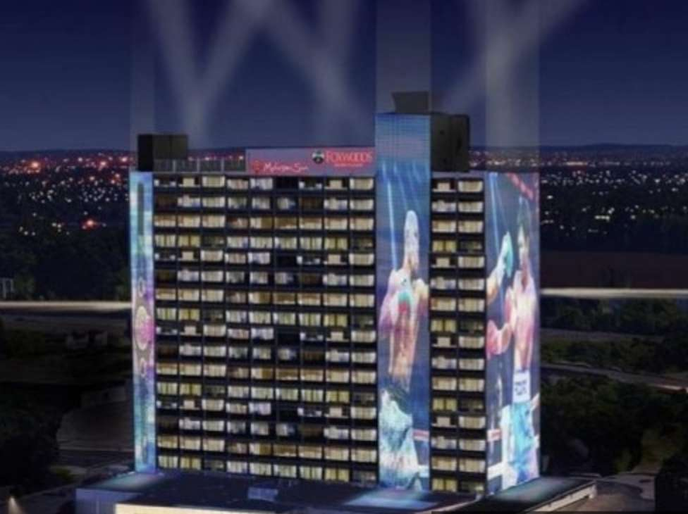 An artist rendering of the proposed casino by MMCT Ventures.