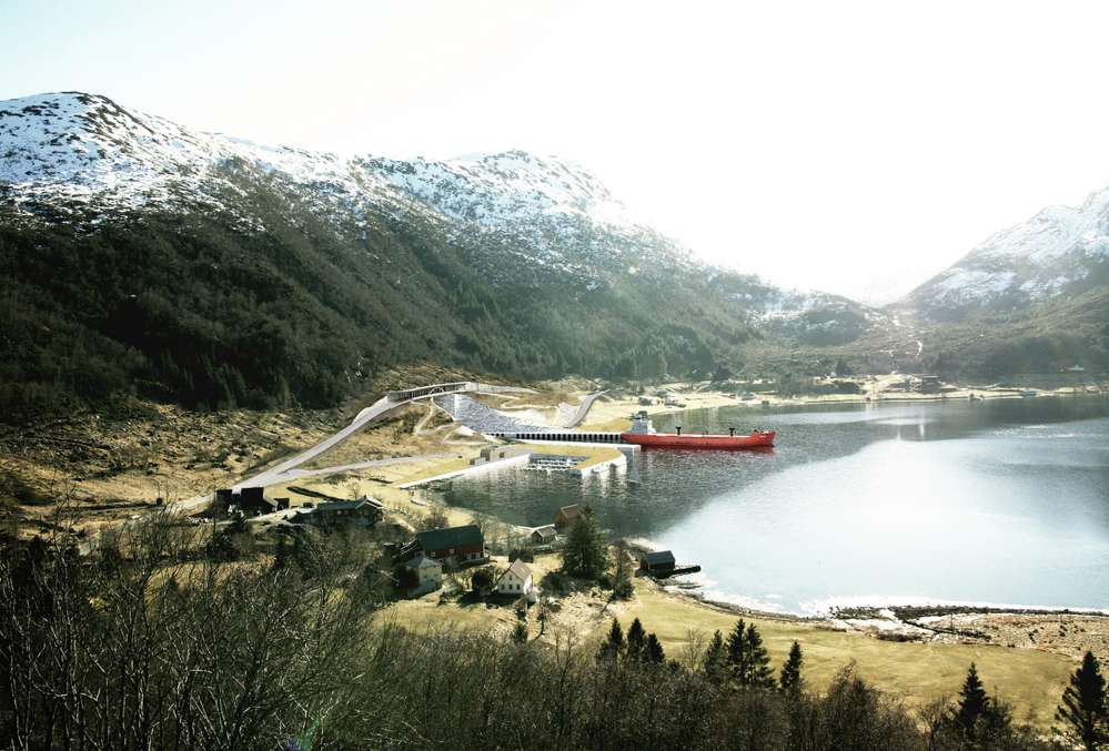 Another rendering of the ship tunnel. Image © Norwegian Coastal Administration/Snøhetta