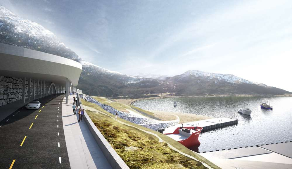 Moldefjorden: Bridge, with access for the public. Image © Norwegian Coastal Administration/Snøhetta