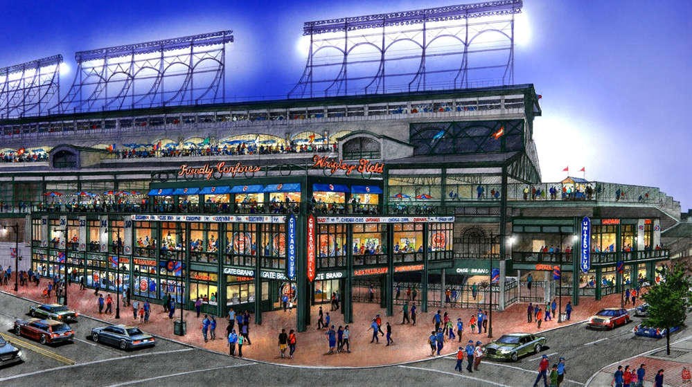 A rendering of the retail and entertainment complex.