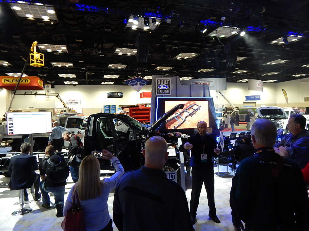 Ford Trucks, a major show sponsor, had displays and presentations running in multiple locations throughout the show.