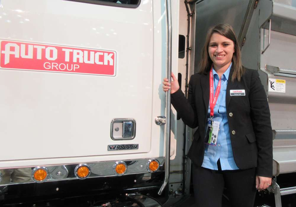 Carissa Saia of Auto Truck Group goes over the company's capabilities in the design, manufacture and installation of truck equipment.