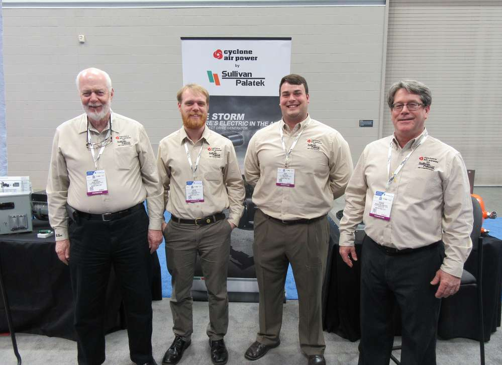 (L-R):?Robert Meeker, Justin Dick, Dave Raffin and Richard Miltenberger welcome attendees to the Sullivan-Palatek exhibit.