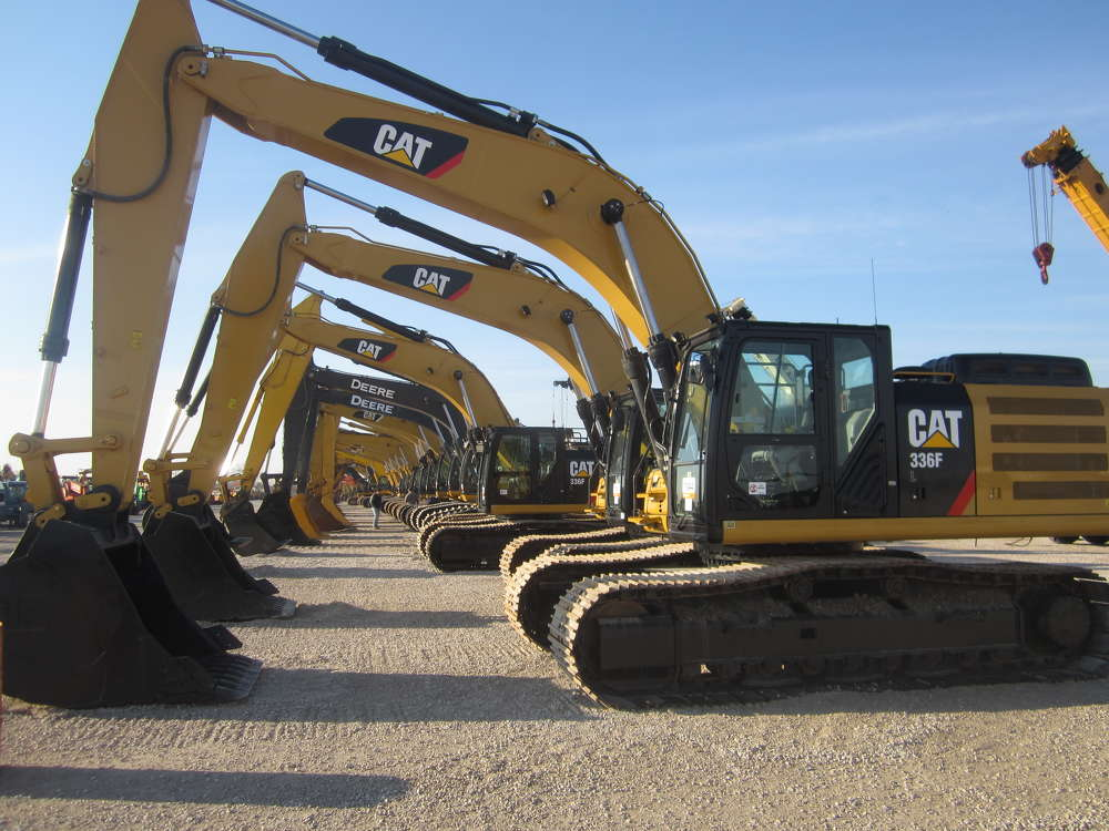 The auction featured a lot of late-model well maintained excavators.