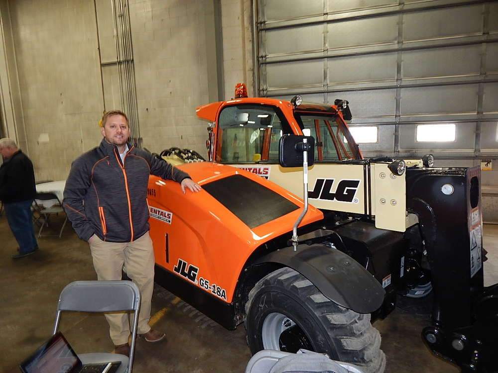 Bud McCillum, JLG district aftermarket sales manager, talks about this JLG G5-18A compact telehandler.