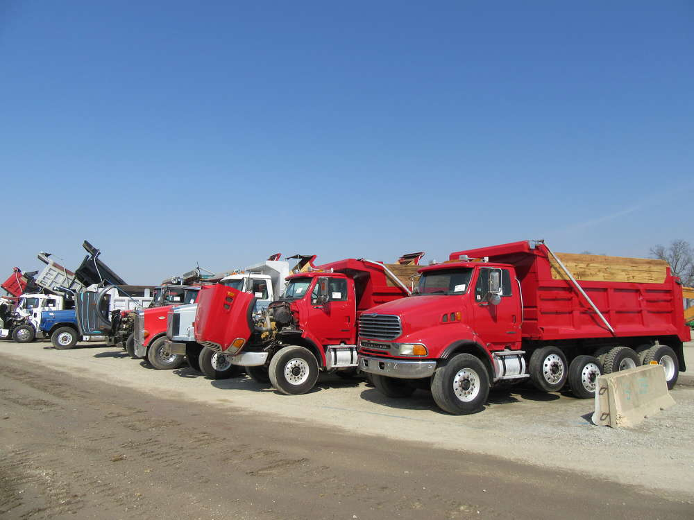 There was a variety of trucks going on the block at the auction.