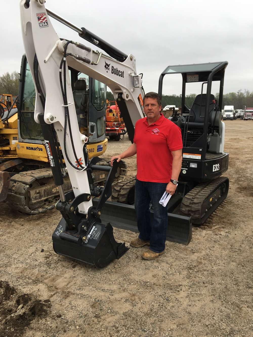 This new Bobcat E32i excavator caught the eye of Harlan Martin of Martin Construction & Grading in Eastanollee, Ga