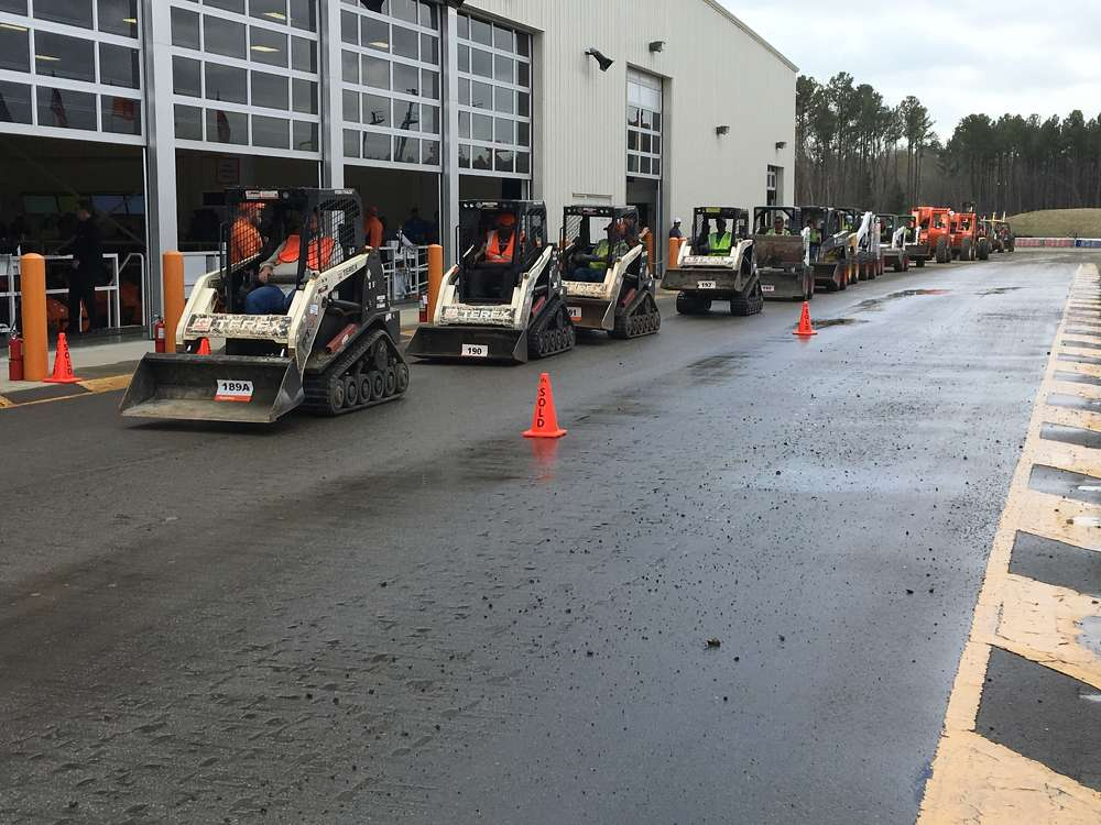 The sale included a variety of compact track loaders and skid steers.