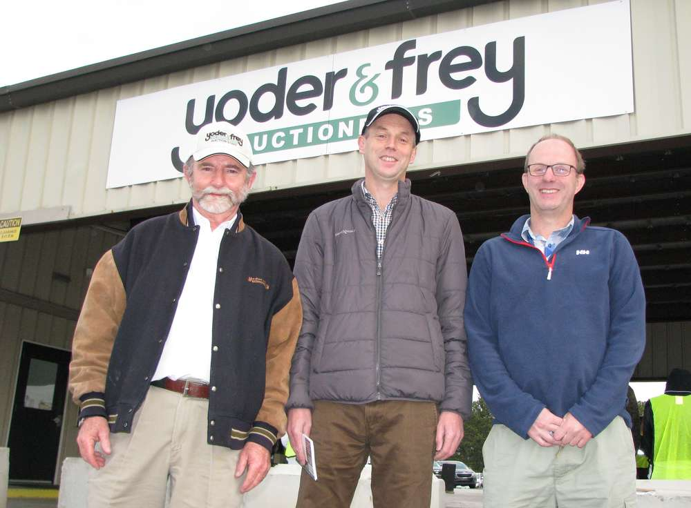 (L-R): Peter Clark, Derek Keys and Jonnie Keys stand ready to get the sale rolling at Yoder & Frey's permanent site in the Atlanta area.