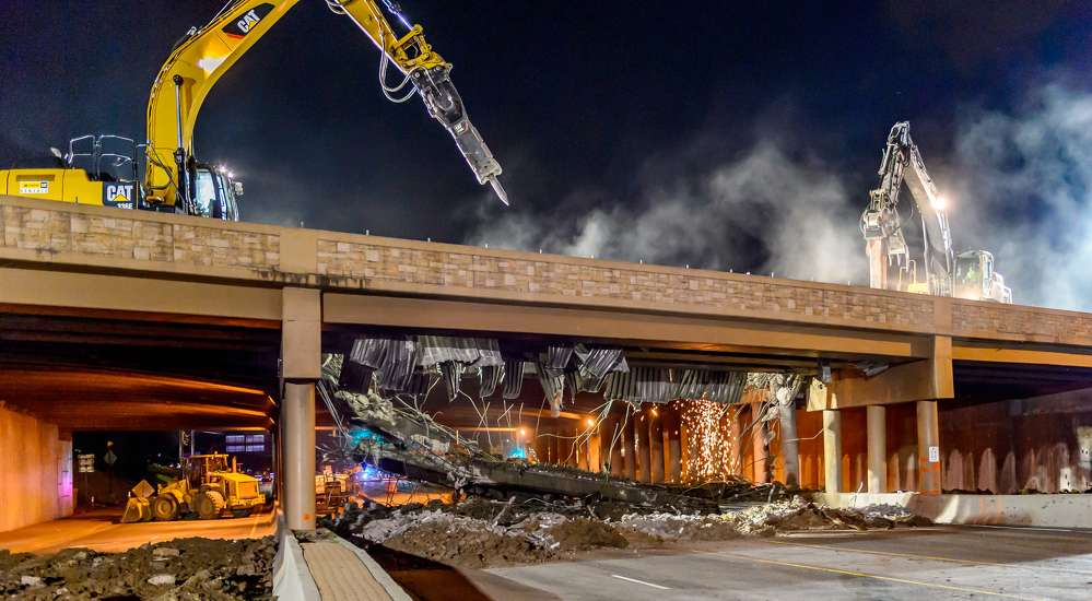 Colorado Department of Transportation photo. The project includes construction and reconfiguration of the interchange at I-25 and Arapahoe Road.