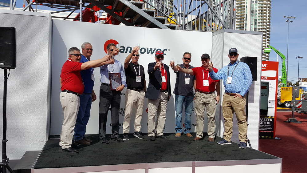 Manitowoc Cranes celebrated the release and first five retail orders of the new National Crane NTC55 truck crane at a special ceremony at ConExpo 2017.