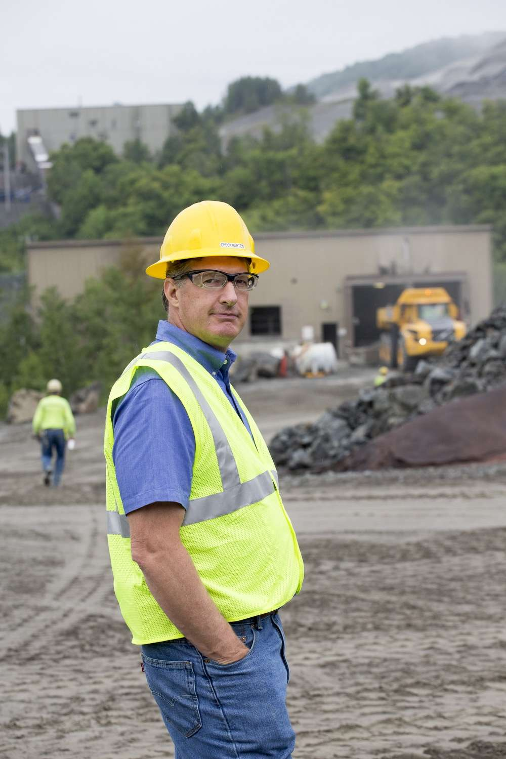 Chuck Barton, chief operating officer of Barton Mine, stands proudly on site.