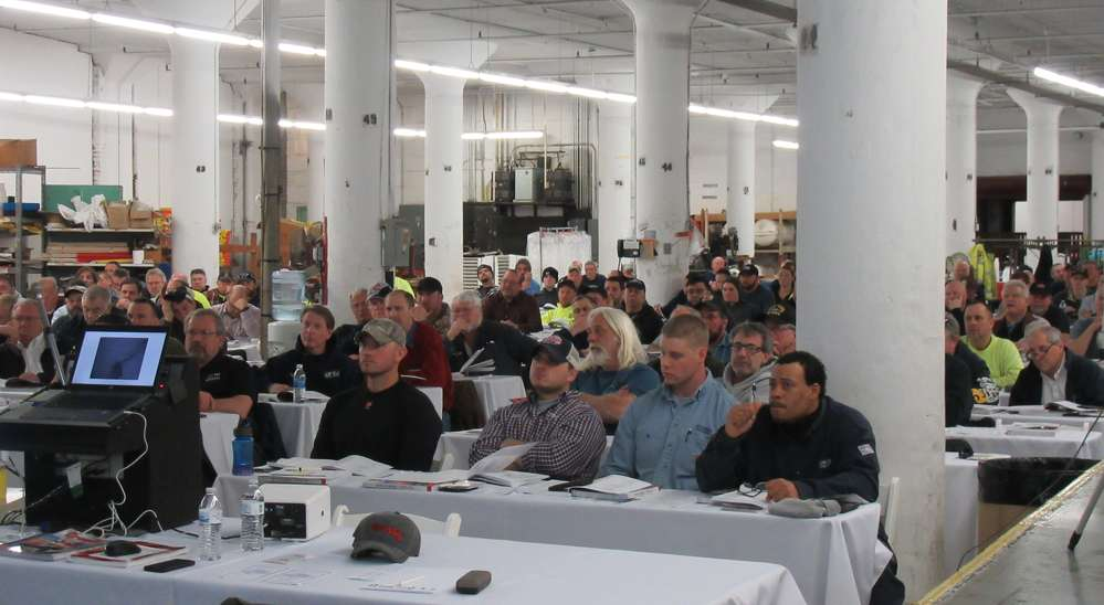 The third floor of Samsel Supply Company served as the classroom for the training session.