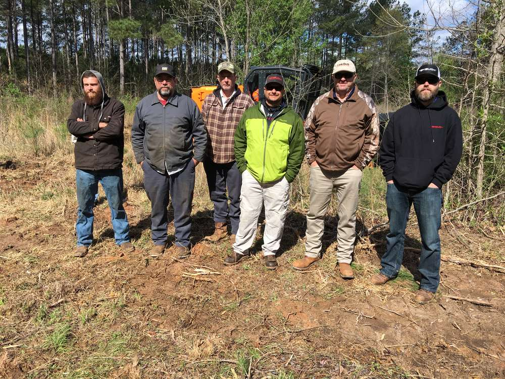 (L-R) are Taylor and Ral Knowlton and William Nickles, all of Nickles Land Clearing in Hodges, S.C., and Eric Bennett, Allan Turner and Will Durham, all of Bennett Equipment & Supply in Piedmont, S.C.