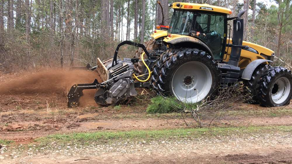 The SFM 225 forestry tiller multi-tasks, and with its carbide tips, it can grind stumps stumps up to 20 in. in diameter, crush rocks, grind roots and conditions the soil down to 8 in.