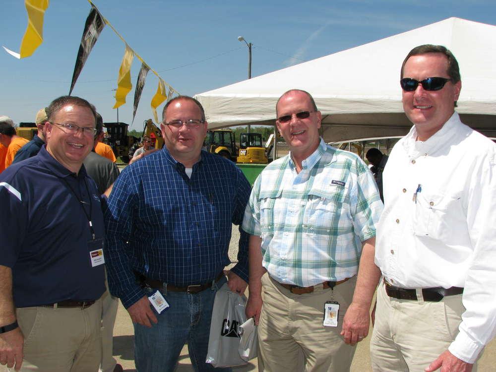 (L-R): John McCarty, Thompson Machinery, Jackson, Tenn.; Mark Welch and Joe Baumgardner, both of Jackson Energy Authority, Jackson, Tenn.; and Bill Dement, Dement Construction, Jackson, Tenn., attend the event.