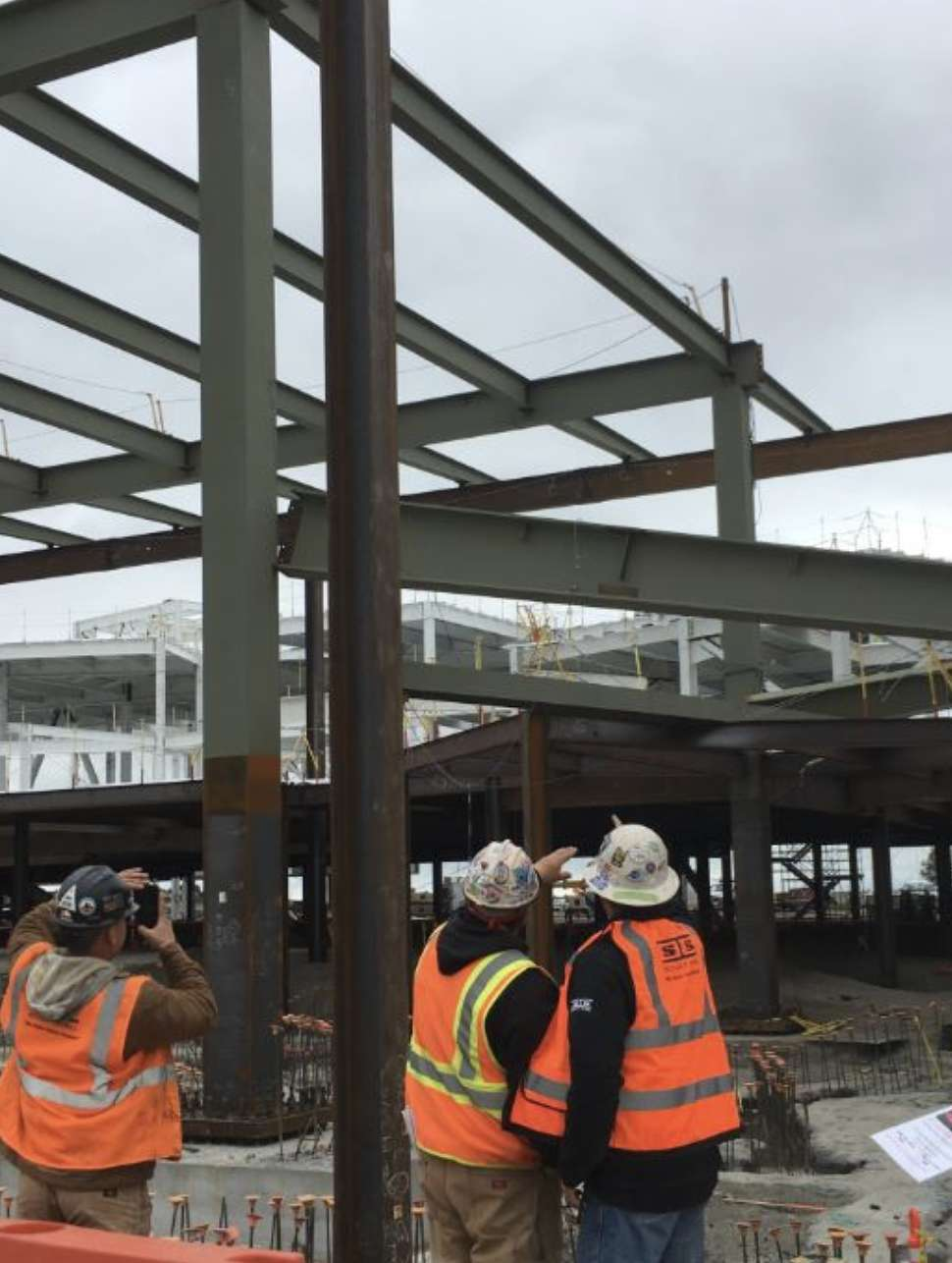 Part of the building under construction in the Menlo Park area collapsed on April 26. (Menlo Park Fire Department)