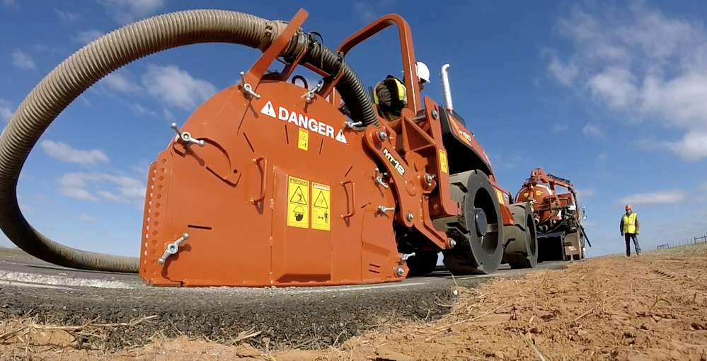 The Ditch Witch MT12 MicroTrencher.