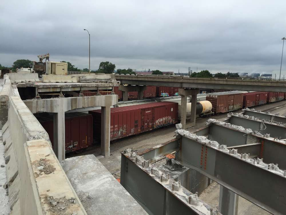 Oklahoma Department of Transportation photo. Built in 1962, the worn bridge became classified as structurally deficient.