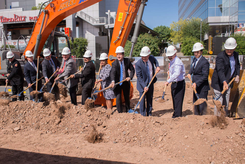 CityScape Phoenix photo On April 13, officials gathered in Phoenix to break ground on Block 23, a $160 million mixed-use development.