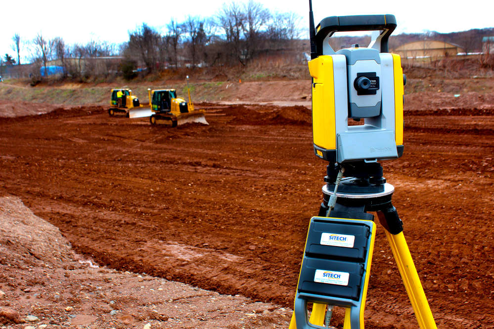 The Robotic Total Station from Sitech is well positioned to guide a pair of D5K2 dozers.