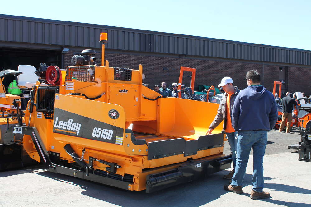 This LeeBoy 8515 paver was just one of the machines on display at W.I. Clark's paving seminar. Representatives were available to provide demonstrations and answer customer questions.