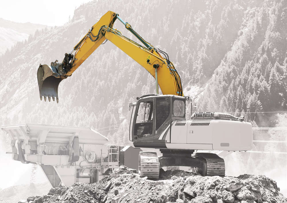 One of the ideal applications for the XE is loading a crusher while tracking the production numbers.
