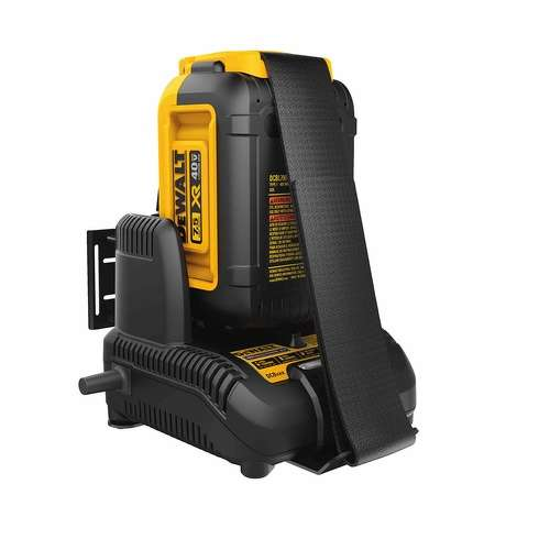 DEWALT 40V MAX* outdoor power equipment battery.