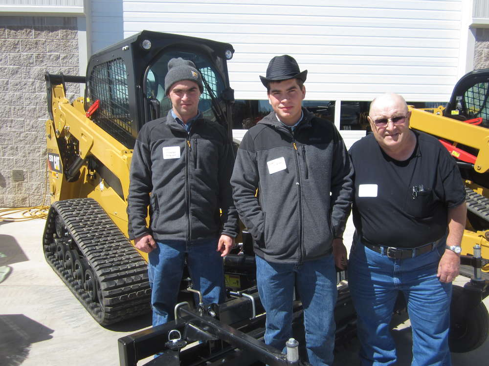 (L-R): Kevin and Lowell Brubacher, both of Brubacher Excavating, and Bob Alger of Alger Construction attend the event.