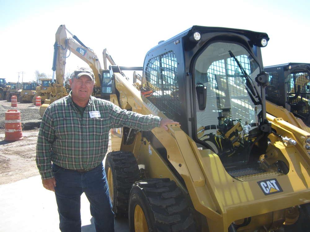 Dennis Ruid of Ruid Excavating said he liked this Cat 262D skid steer.