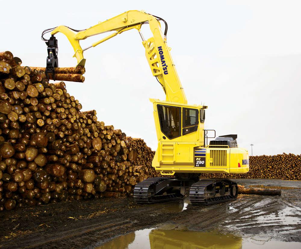 Komatsu America Corp. PC290LL-11 log loader.