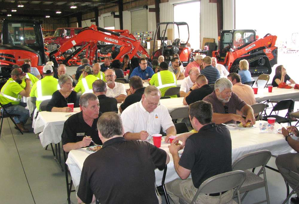 A great crowd turned out to see some terrific product displays and have lunch with Atlanta Kubota.