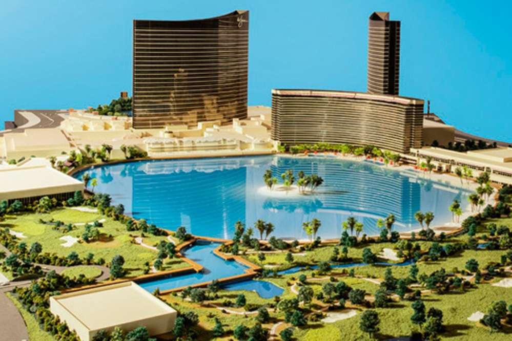 Rendering of Steve Wynn's latest vision, Paradise Park, Las Vegas.