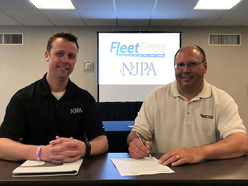 Scott Carr (L), NJPA contract administrator, and Wayne Corum, chairman of Fleet Pros' National Board.