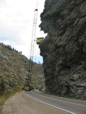 Technical blasting and rockfall mitigation in Idaho Springs. Photo via http://url.ie/11ry4.
