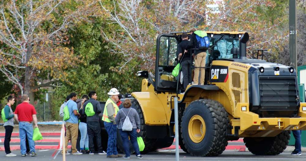 WCSD students learn about heavy equipment at Construction Career-Day.